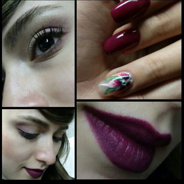 Caprice Cosmetics automne - hiver Rouge Fidel , vernis #17 , eyeshadow  #capricecosmetics #caprice #makeup # maquillage #nails #vernis #lipstick #rouge #violet #purple #prune #eyes #ingles
