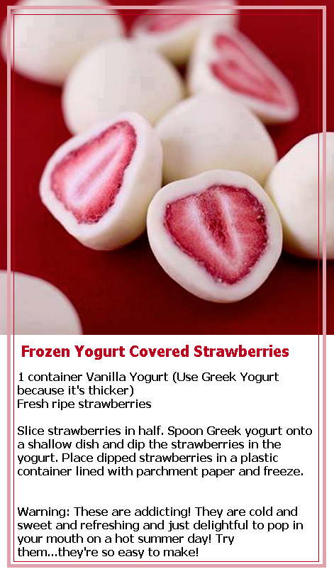how to make yogurt strawberries