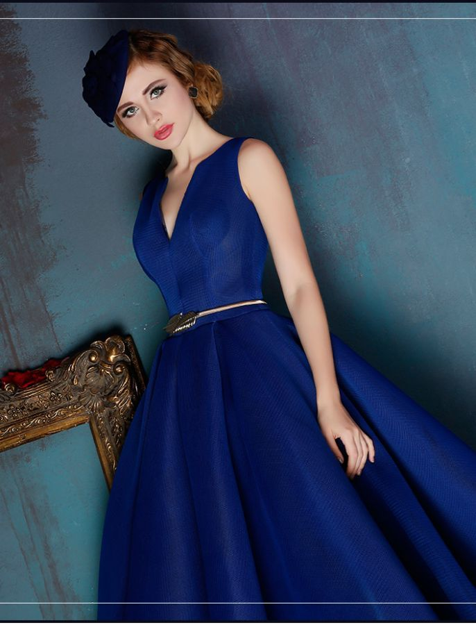 f8720f7464e Fit and Flare Vintage Inspired Prom Dress