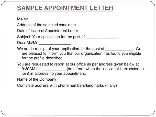 writing letters ganta kishore kumar appointment letter format - sample appointment letter