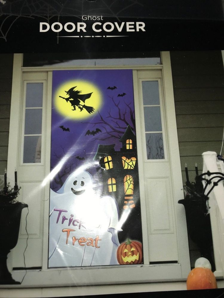 Details about Halloween Ghost Door Cover Wall Decoration 30\ - halloween scene setters decorations