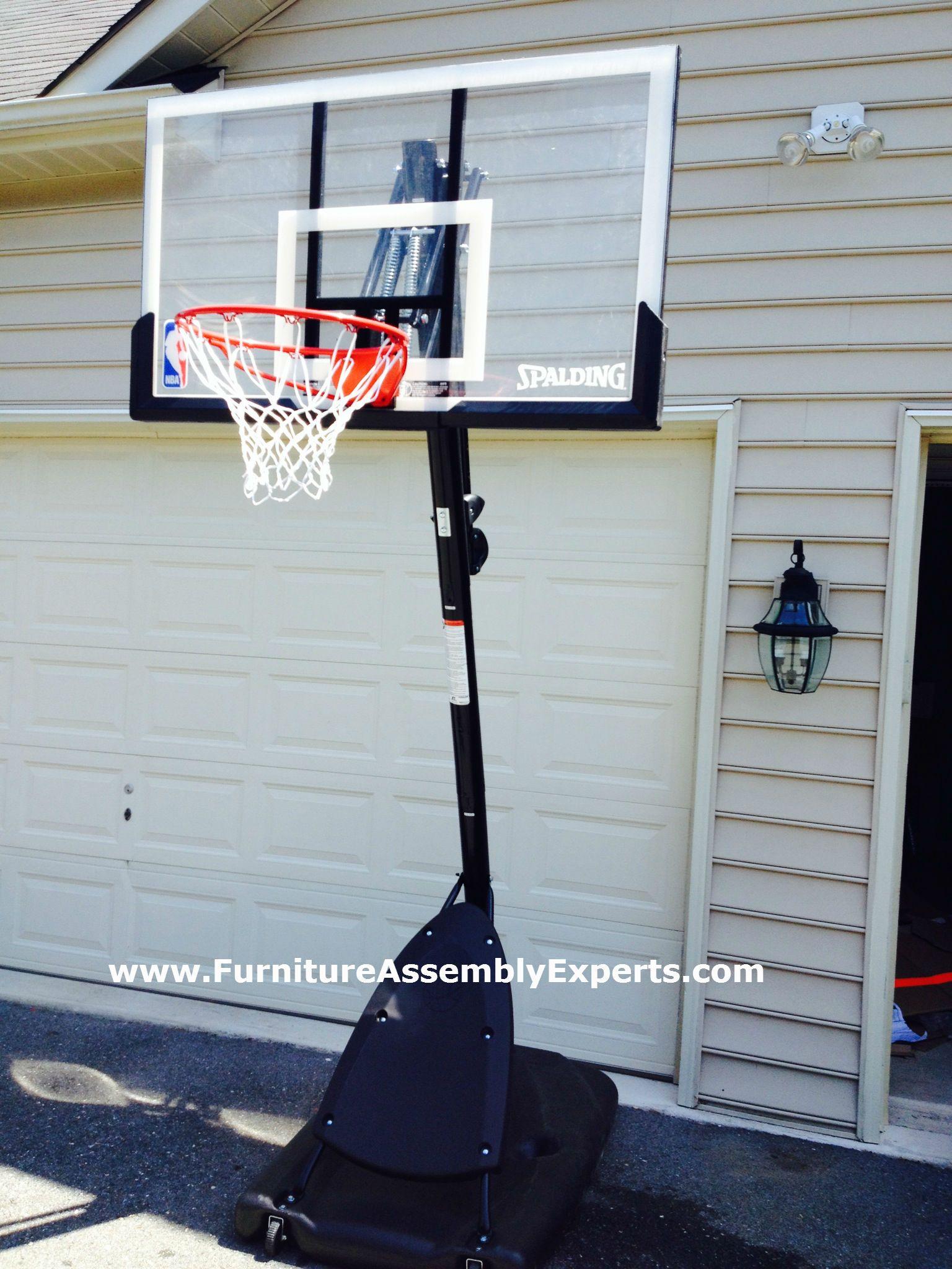 spalding portable basketball hoop system assembled in rockville md