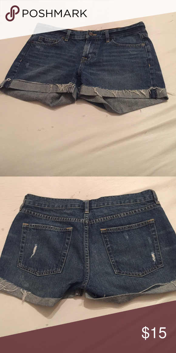 J crew hips lung denim cut offs. 3.25 in inseam. Super cute cut offs. J. Crew Shorts Jean Shorts