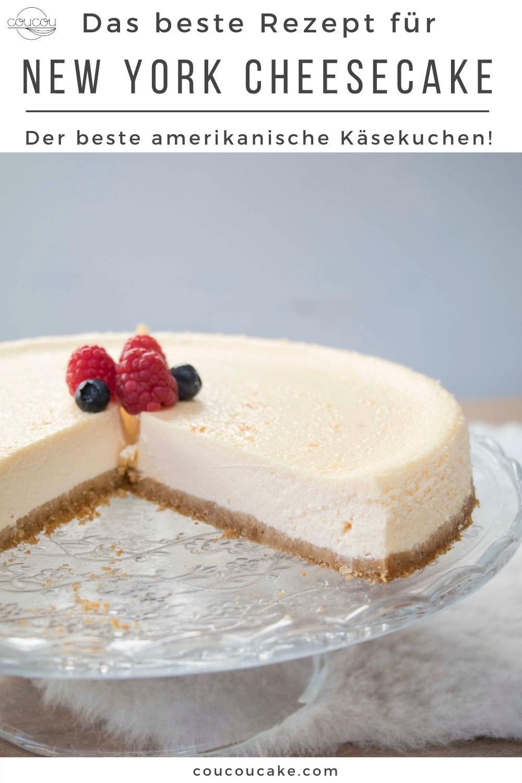 Dieser New York Cheesecake ist einfach unvergleichlich. Ein knuspriger Boden und diese unglaublich cremige Käsekuchenschicht. Dazu ist dieser klassische amerikanische Käsekuchen so einfach gemacht und es werden nur ein paar Zutaten benötigt.