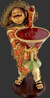 This Mexican Cocktail Waiter statue is absolutely adorable  This