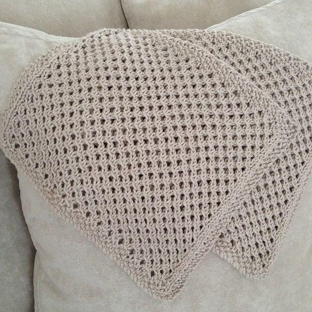 Knitting Patterns Galore - Oroton Inspired Waffle Washer/Dishcloth ...