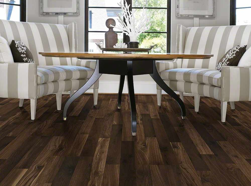 "Shaw Parkview Walnut Laminate Flooring 5 16 x 8 x 48"""