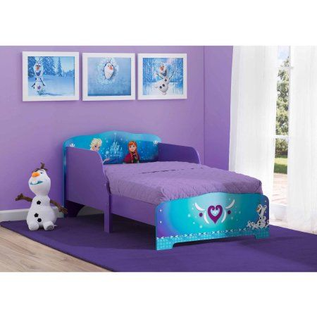 Disney Frozen Wood Toddler Bed Purple Products Toddler Bed