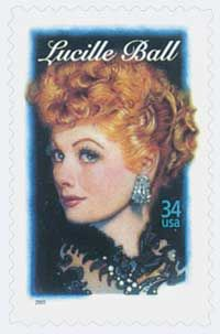 Lucille Ball's Legends of Hollywood stamp