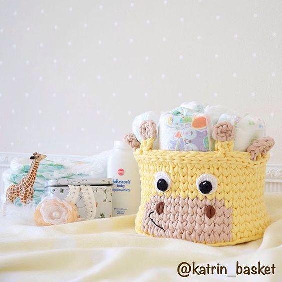 Pin de Felicia Trammell en Crochet | Pinterest | Trapillo, Cesto y ...