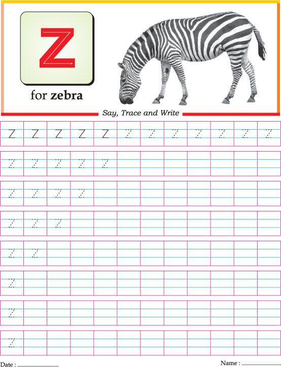 Letter Tracing Small Z