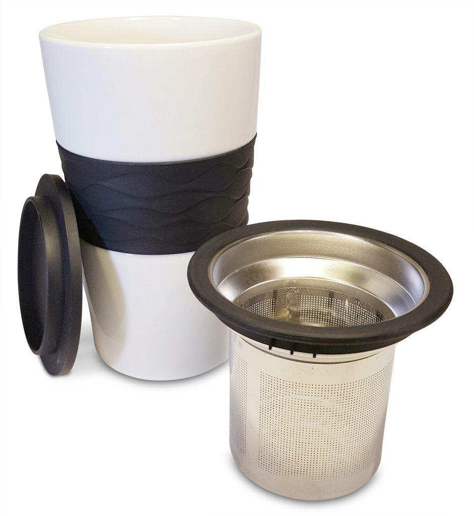 Premium Tea Infuser And Mug Set, BrewInMug Stainless