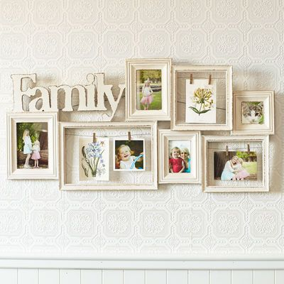 Pier 1 Imports Family Ivory Collage Wall Photo Frame | Collage walls ...