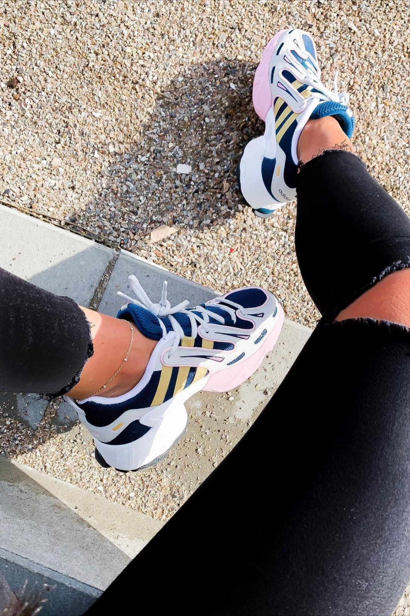 Splashy 90s Running Style Revived For Today The Equipment Gazelle Takes Inspiration From A Late 90s Running Style Fe Adidas Women Running Clothes Sneakers
