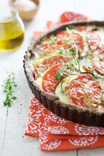 Tomato and Zucchini.