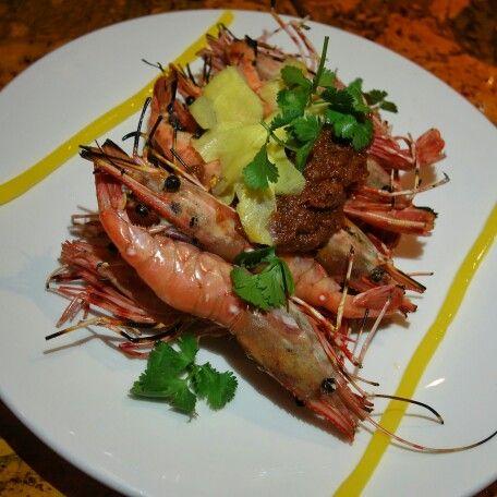 Maenam Wine Dinner Spot Prawns Food