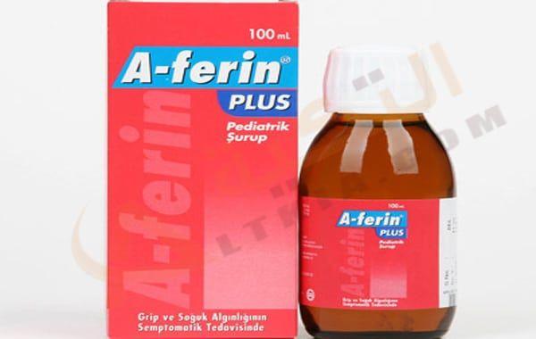 دواء أ فيرين بلس A Ferin Plus شراب وأقراص لعلاج نزلات البرد والزكام الناتج من التعرض للإنفلونزا التي تعتبر من أكثر الفي Dish Soap Bottle Drink Bottles Bottle