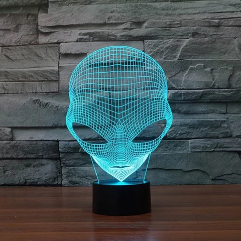 Alien 3d Led Lamp Led Lamp Retro Lamp Oversized Chair Ottoman