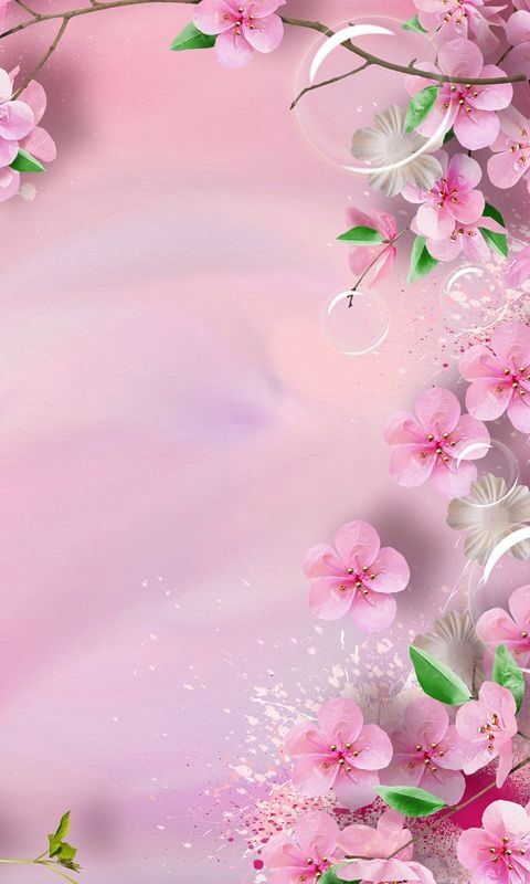 Precioso Fondo Rosado Y Floreado Gorgeous Pink Flowery Background