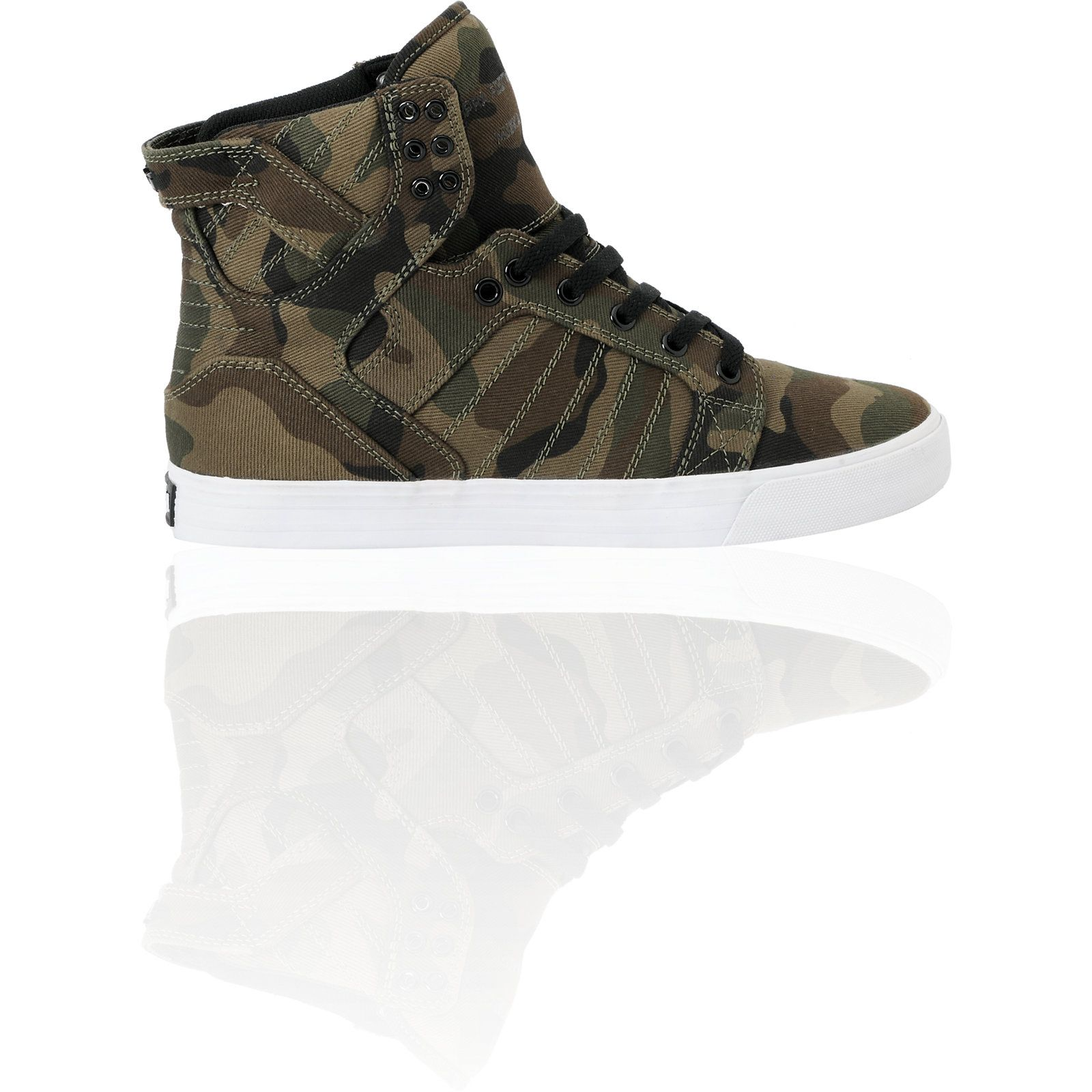 Supra Zumiez Exclusive Skytop Green Camo Skate Shoe 8 5 Sold Out Online a7d0c15cb39a