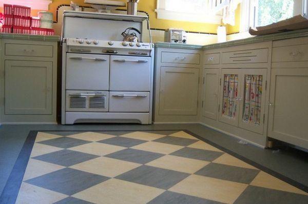 Contemporary Linoleum Eco Flooring Ideas For Modern Interior Design Eclectic Kitchen Linoleum Kitchen Floors Kitchen Flooring