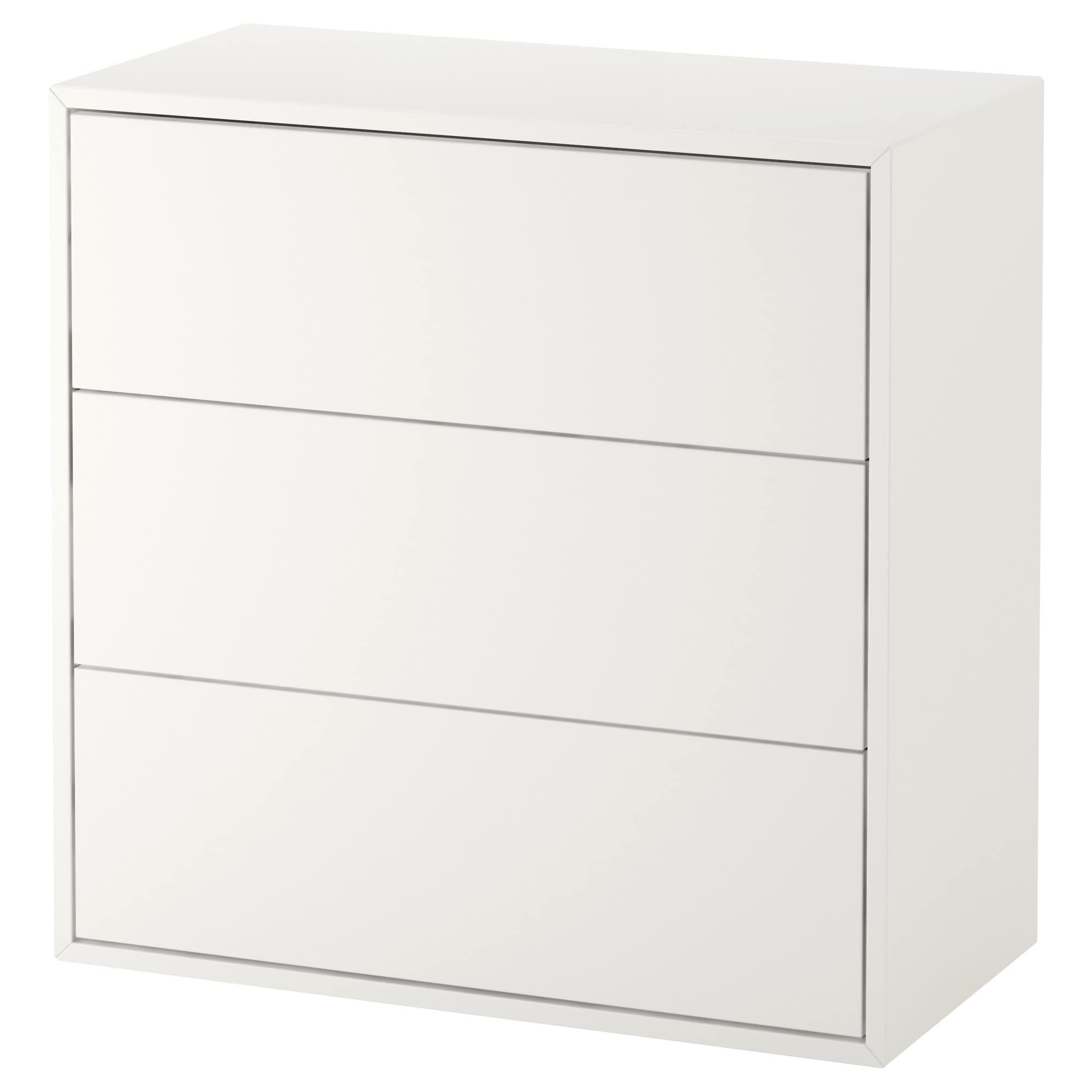Eket Cabinet With 3 Drawers White 70x35x70 Cm Ikea Regal