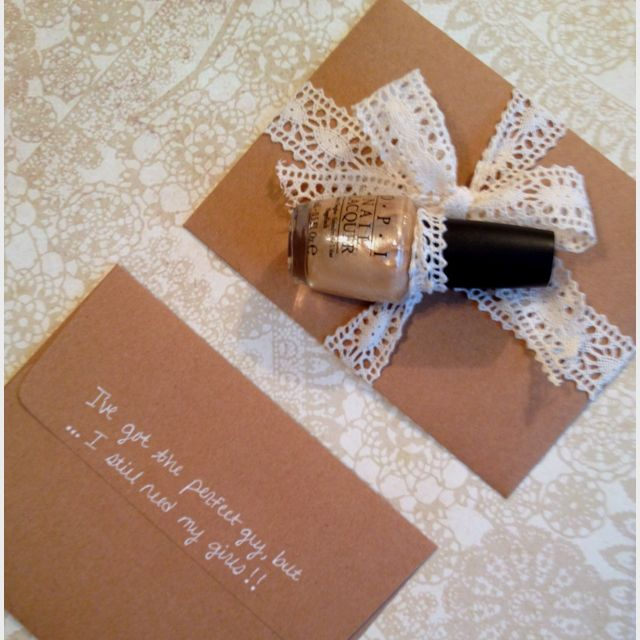 "Cute Wedding Gift Ideas: ""Will You Be My Bridesmaid?"" And"