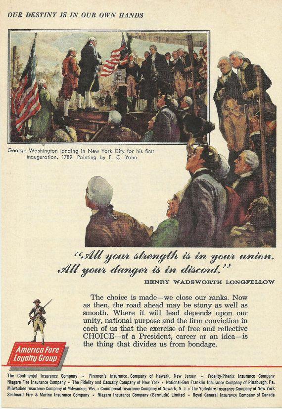 America Fore Loyalty Group Original 1961 Vintage Ad George