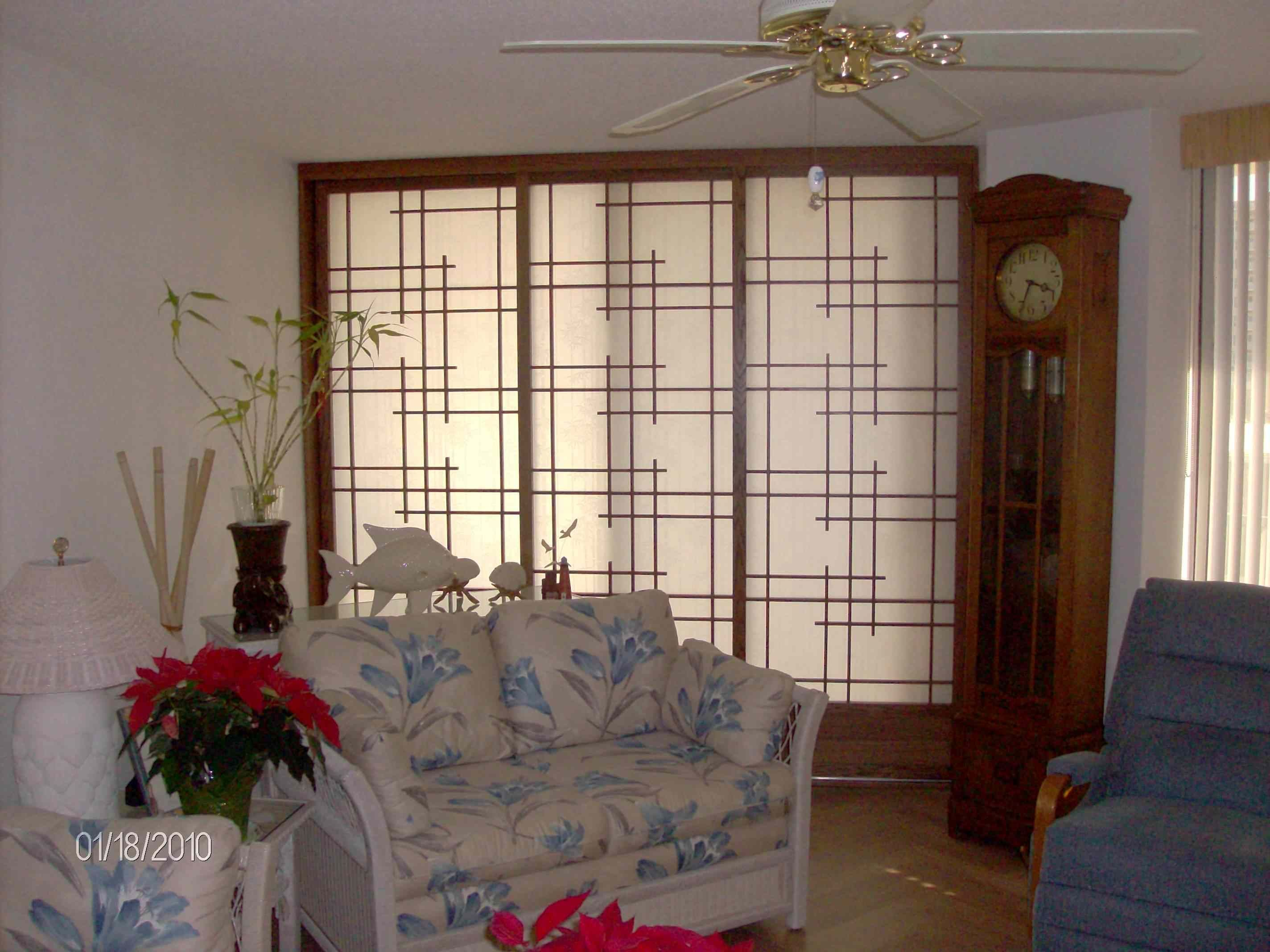 Interior Decorations Comely Sliding Room Dividers With Oriental ...