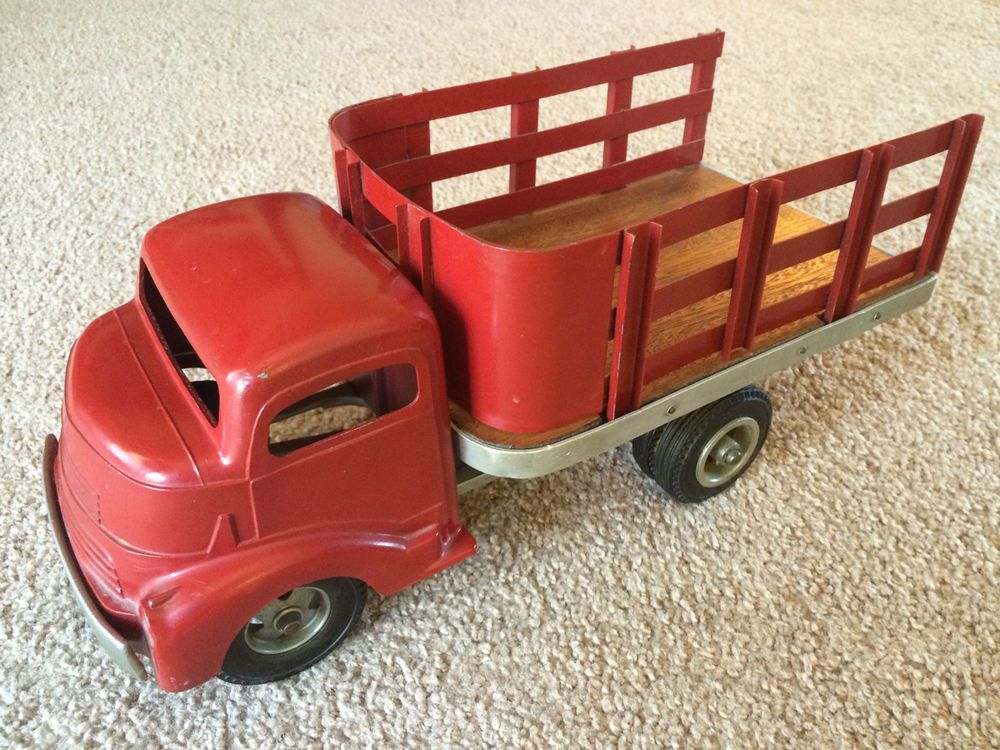 All Original Vintage Rochester Police Car Very Rare: RARE Vintage Smith Miller Smitty GMC Stake Truck Toy