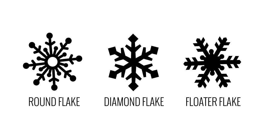 Snowflake Plugs Maple Snowflakes Lettering Graphic Design Inspiration