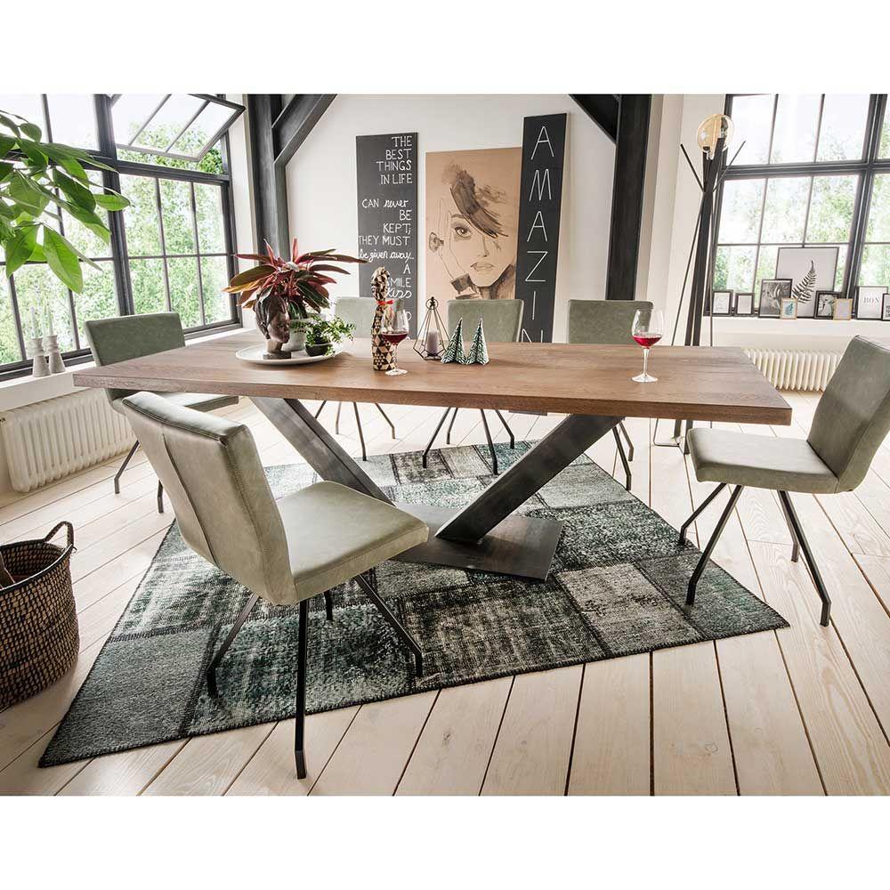 Massivholztisch aus Asteiche Massivholz Stahl Jetzt bestellen unter ...