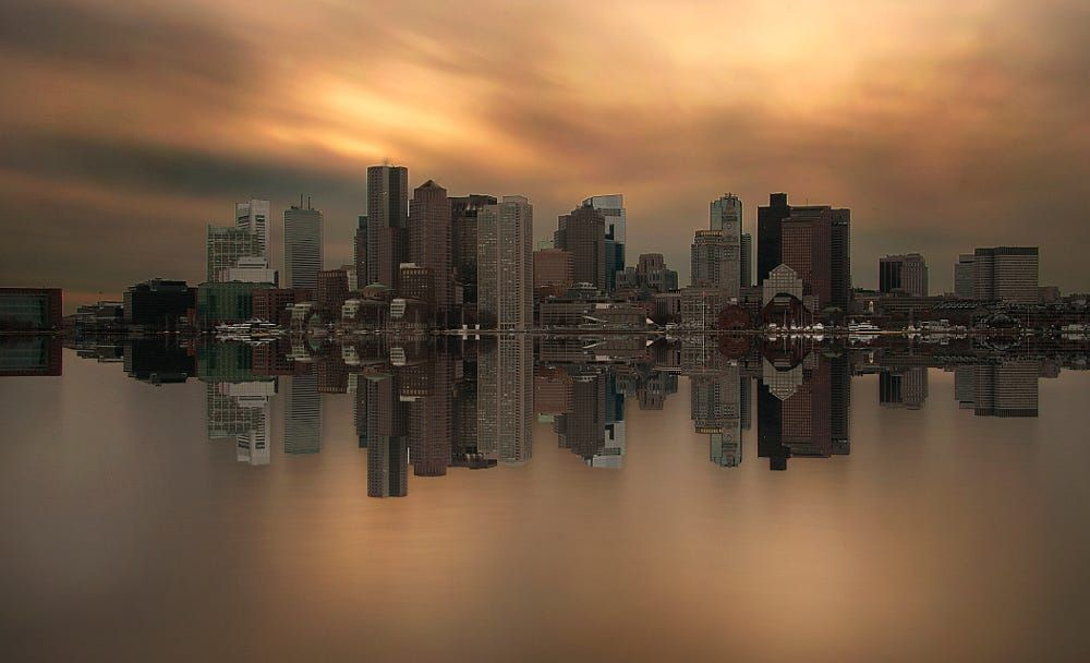 Boston skyline symmetry by Maxim Ersov on 500px   Art prints
