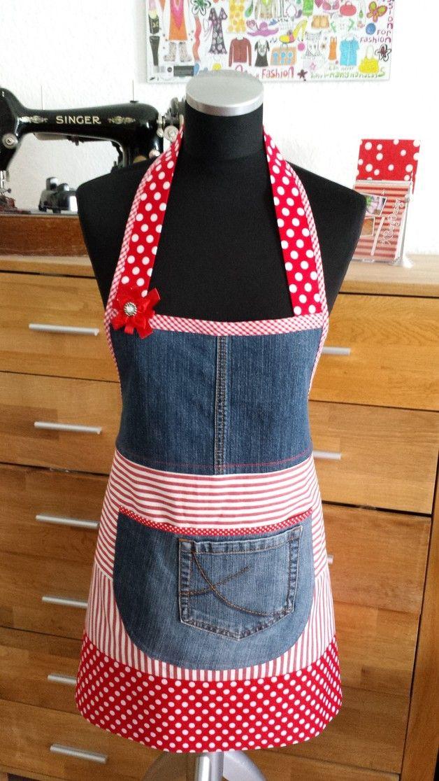 jeans tupfen kochsch rze einfache geschenke sch rze und blickfang. Black Bedroom Furniture Sets. Home Design Ideas