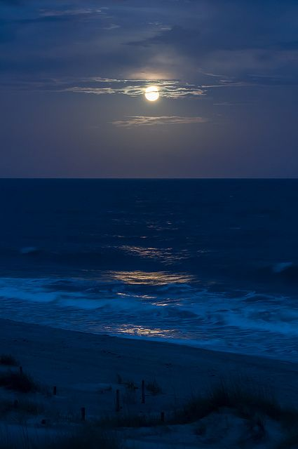EI - Moonlit Shoreline by Christopher Lane Photography