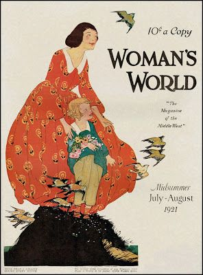 Woman's World — July-August, 1921. Cover art by Maginel Wright Enright