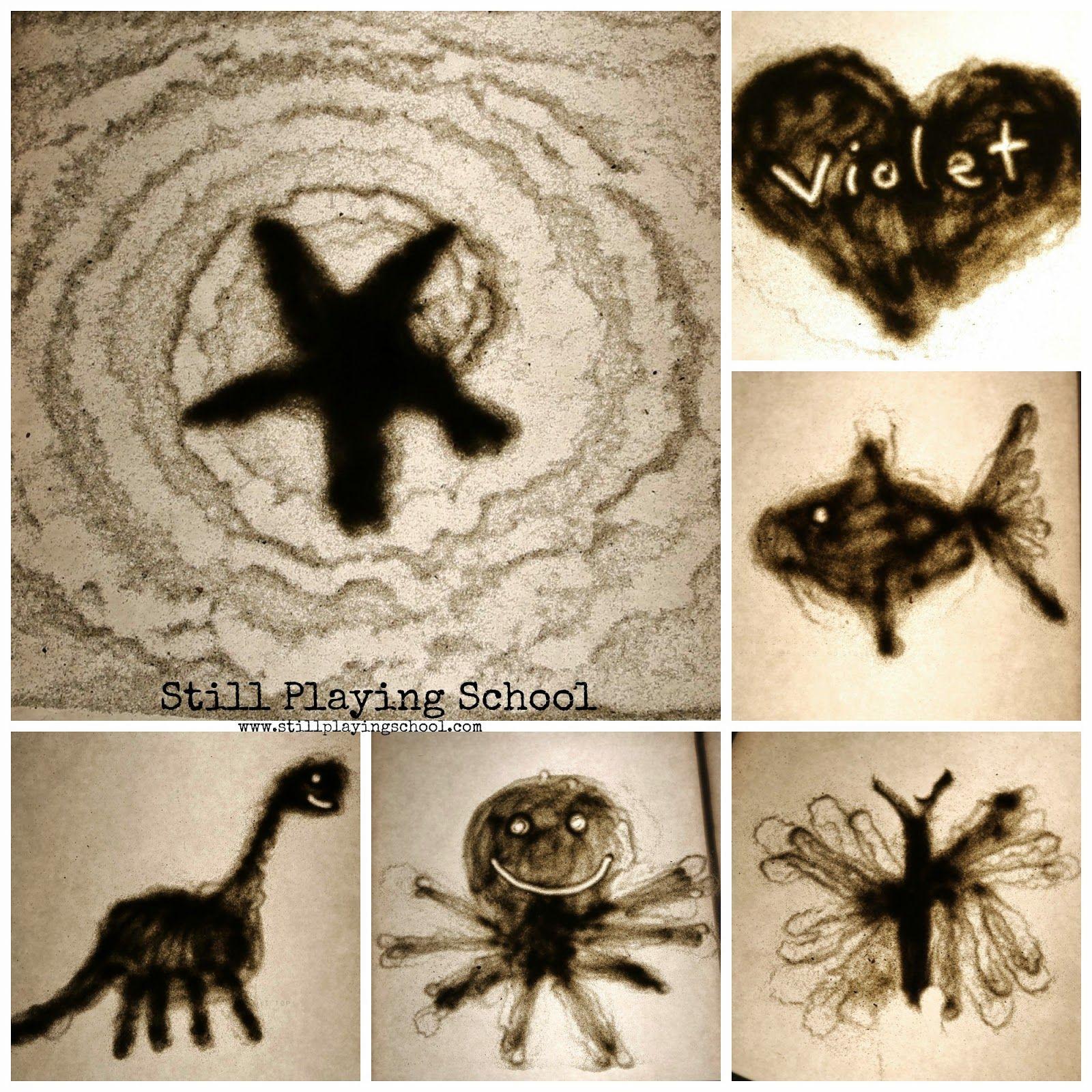 Sand Art on the Light Table Sand art, Sand art for kids