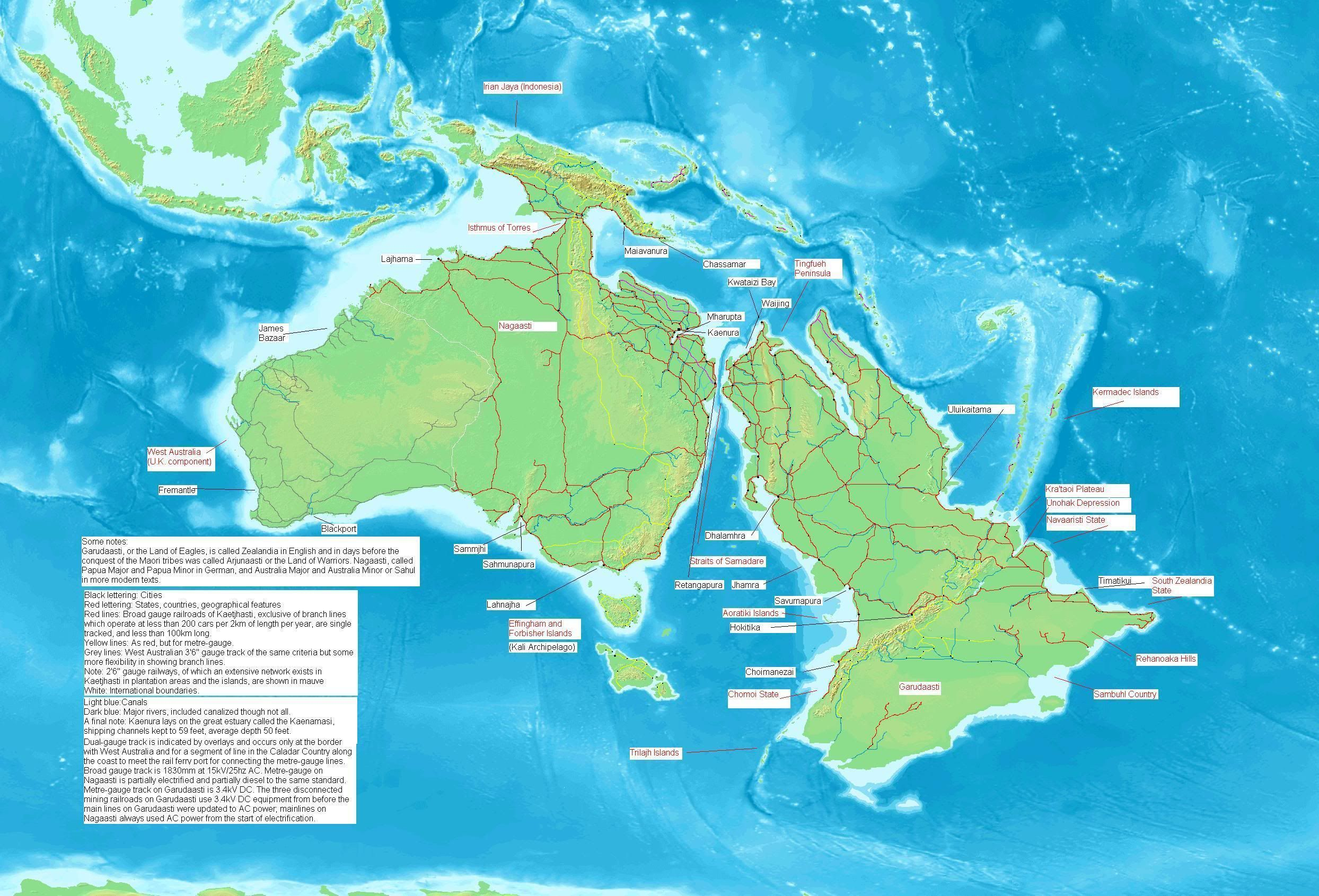 Australia And Zealandia During The Last Ice Age When The Sea Level