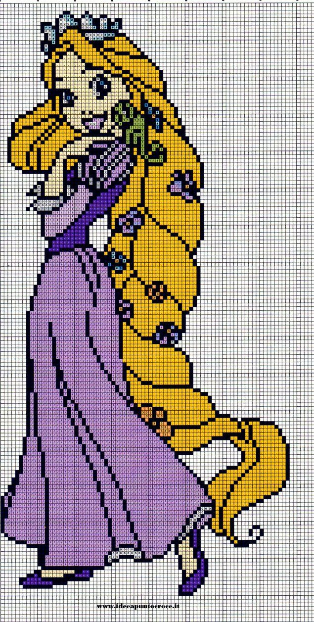 Rapunzel cross stitch by syra1974 on DeviantArt
