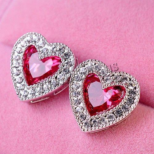Heart earrings http://www.beads.us/es/producto/Pendientes-de-Perno-de-Aleacion-de-Zinc_p232288.html?Utm_rid=163955