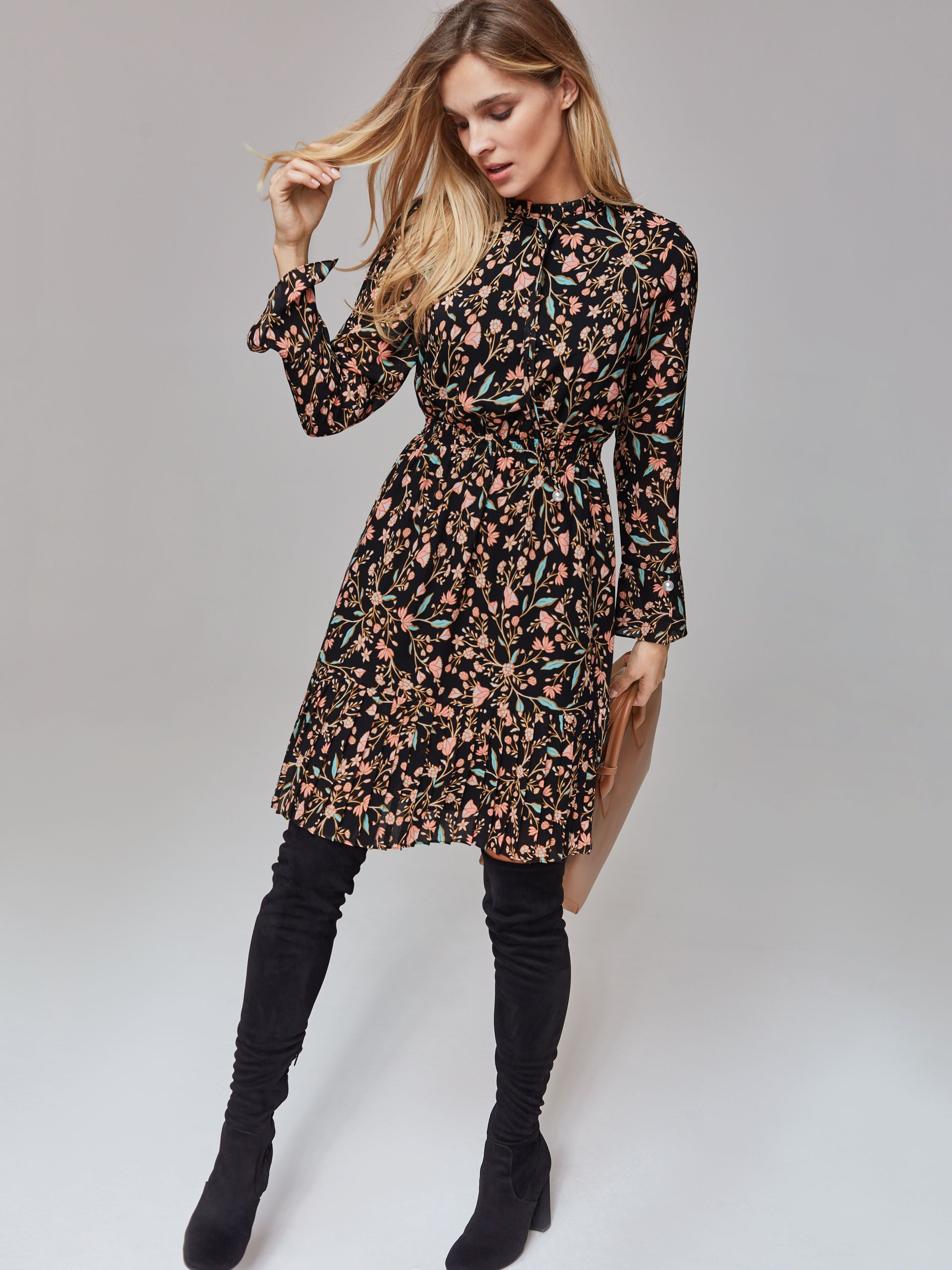 Taranko Aw 2018 19 Autumn Aesthetic Sheer Floral Dress Dresses Sweater Dress