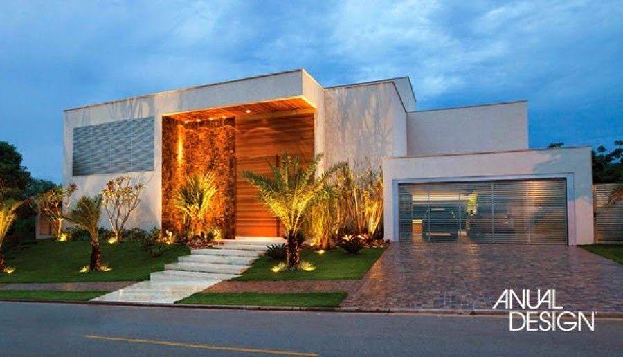 20 fachadas de casas com entradas principais modernas e for Fachadas de entradas de casas modernas