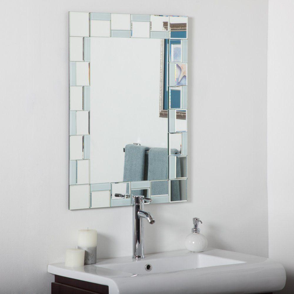 Decor wonderland quebec modern wall mirror reviews wayfair bathroom wall rectangular bathroom