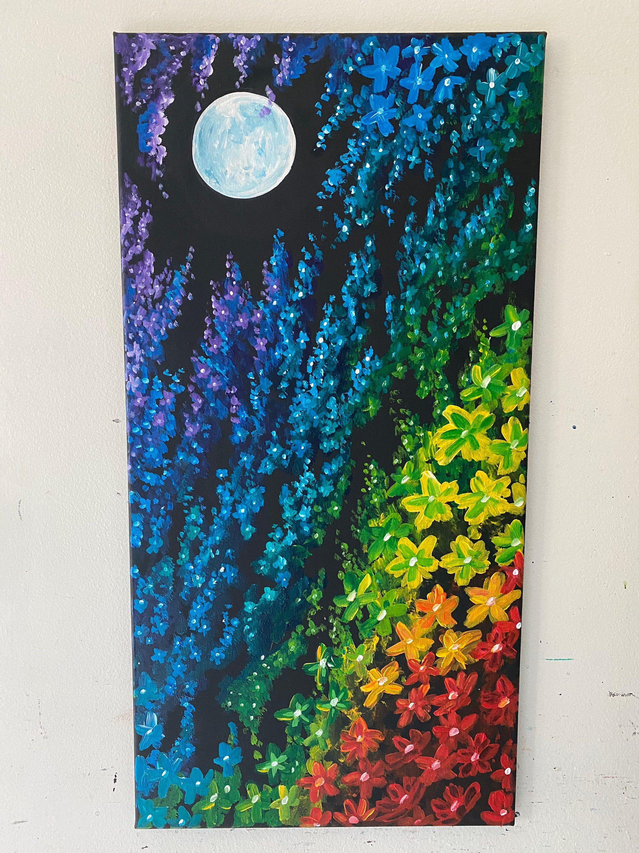 Excited to share this item from my #etsy shop: Rainbow cherry blossom tree #lgbtqpride#rainbow#rsinbowart#cherryblossomart#cherryblossompainting
