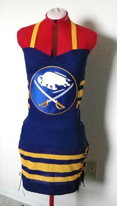 Too Bad This Isn T An Apron Chris Cote Crouch Would Probably Love Me To Have It Haha Buffalo Sabres Diy Fashion My Style