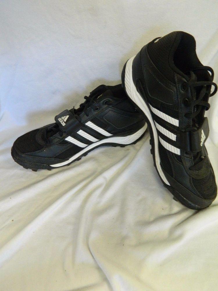 Mens adidas traxion football cleats blackwhite size 7