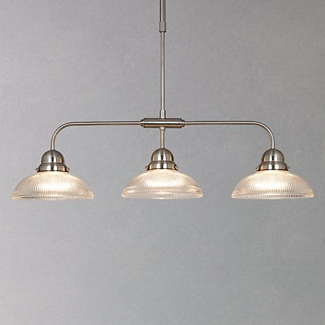 Buy John Lewis George Ribbed Glass Bar Pendant Light Online At - Kitchen pendant lighting john lewis