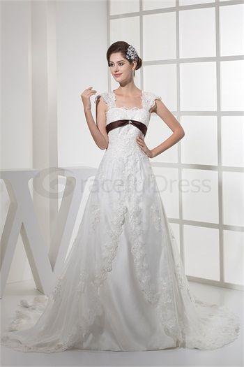 White A-Line Straps Summer Court Train Satin/Lace Wedding Dress  http://www.GracefulDress.com/White-A-Line-Straps-Summer-Court-Train-Satin-Lace-Wedding-Dress-p19319.html