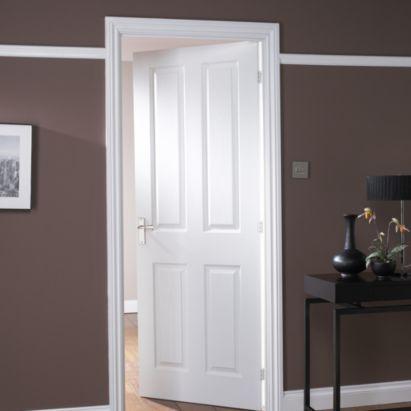 4 Panel White Smooth Internal Door Nat20td4ps With Images Internal Doors White Paneling White Internal Doors