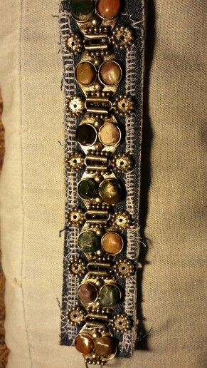 Recycled bracelet on denim